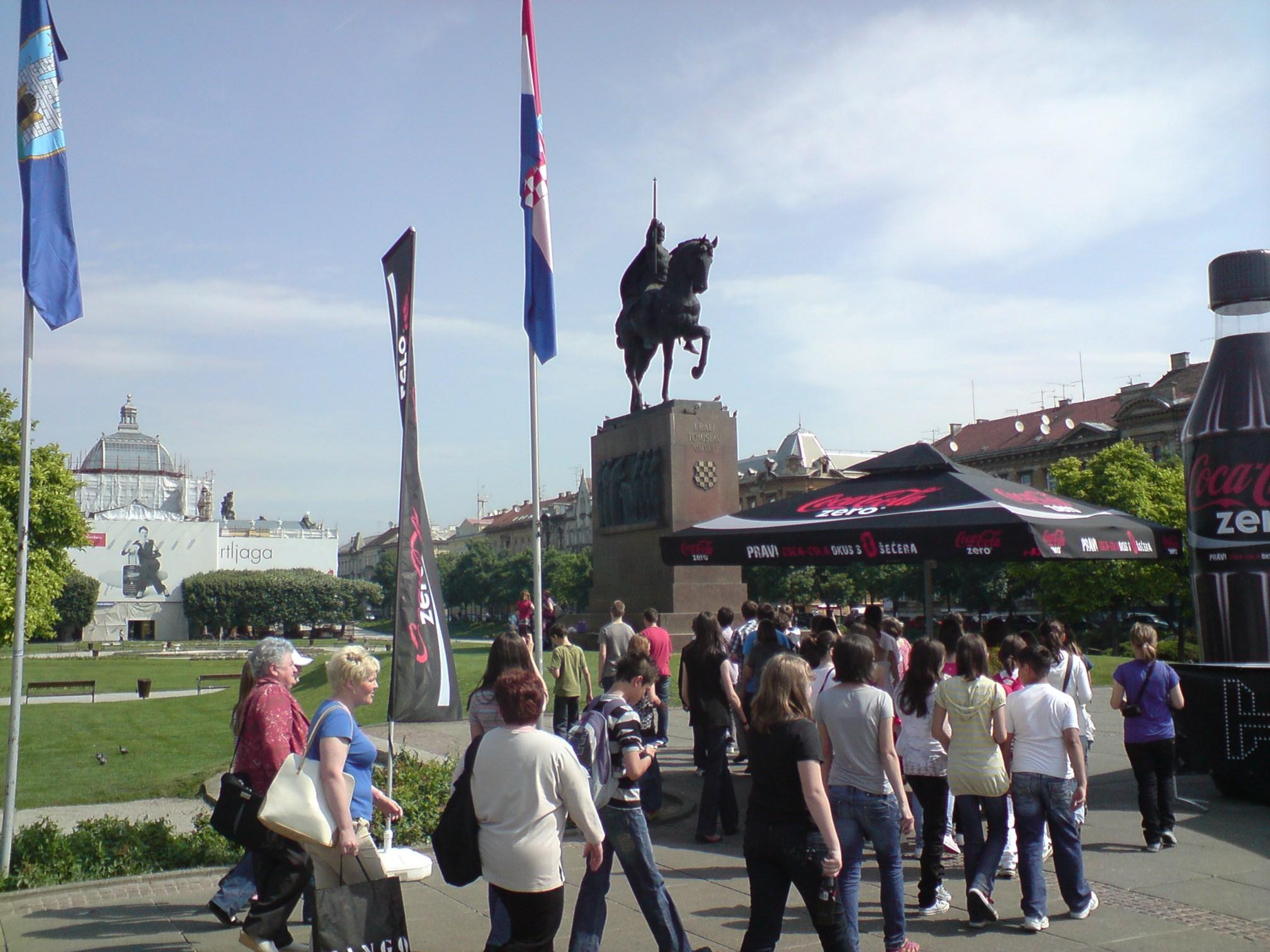 Zagreb - Opća tura: Spomenik kralju Tomislavu