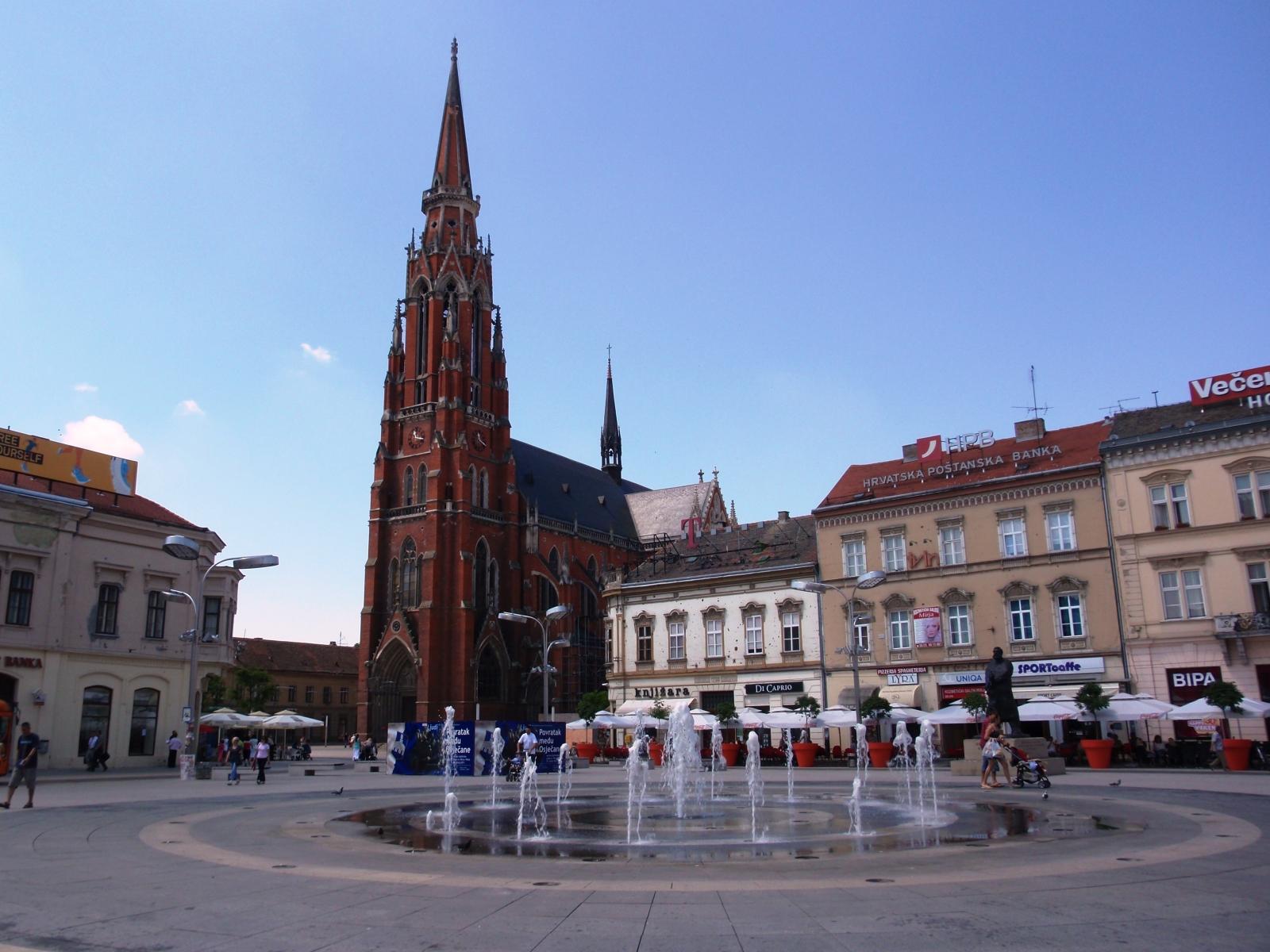 Slavonija i Baranja: Osijek: centar i konkatedrala