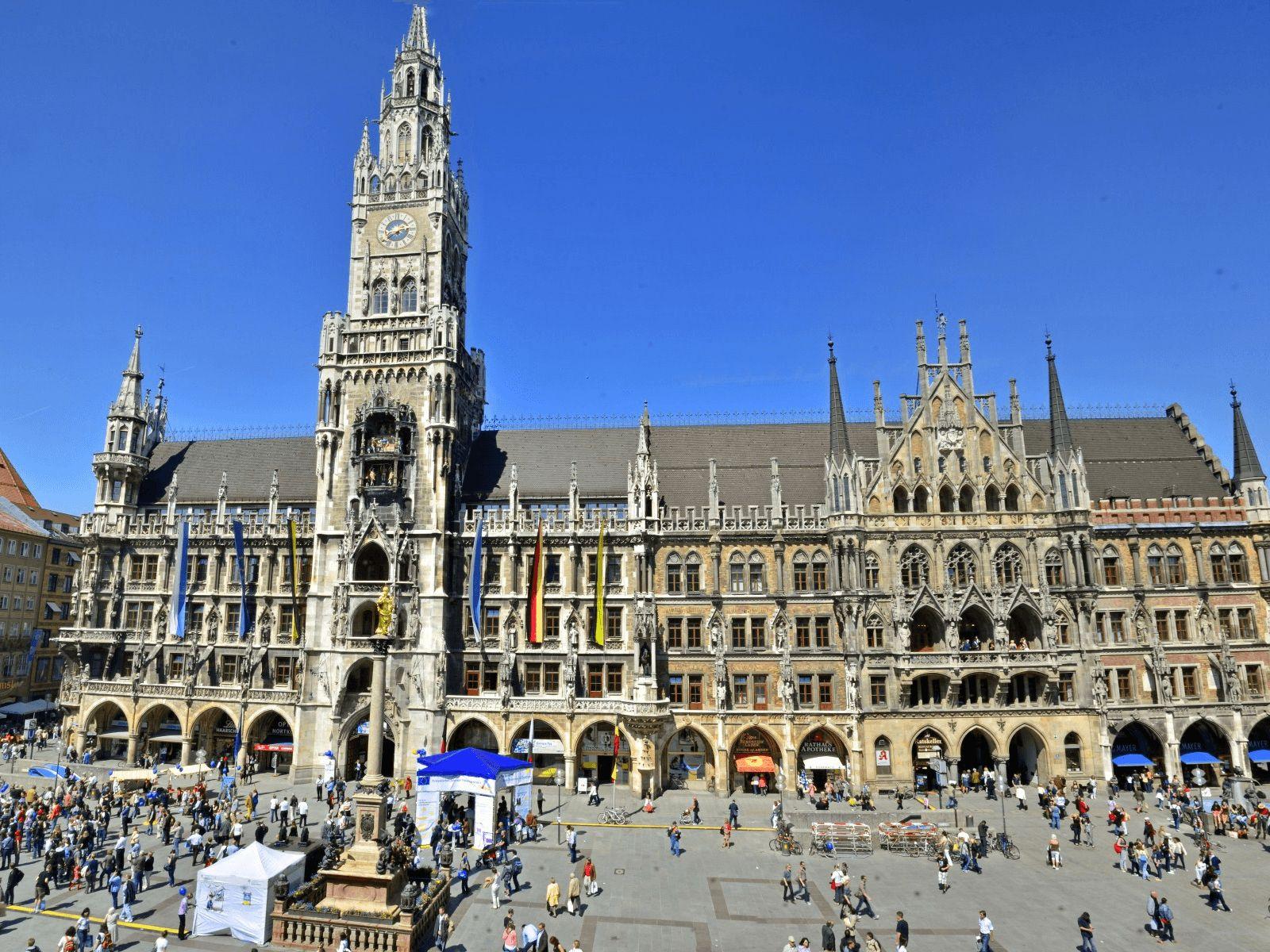 Prag, Munchen i Dresden: Munchen: Rathaus