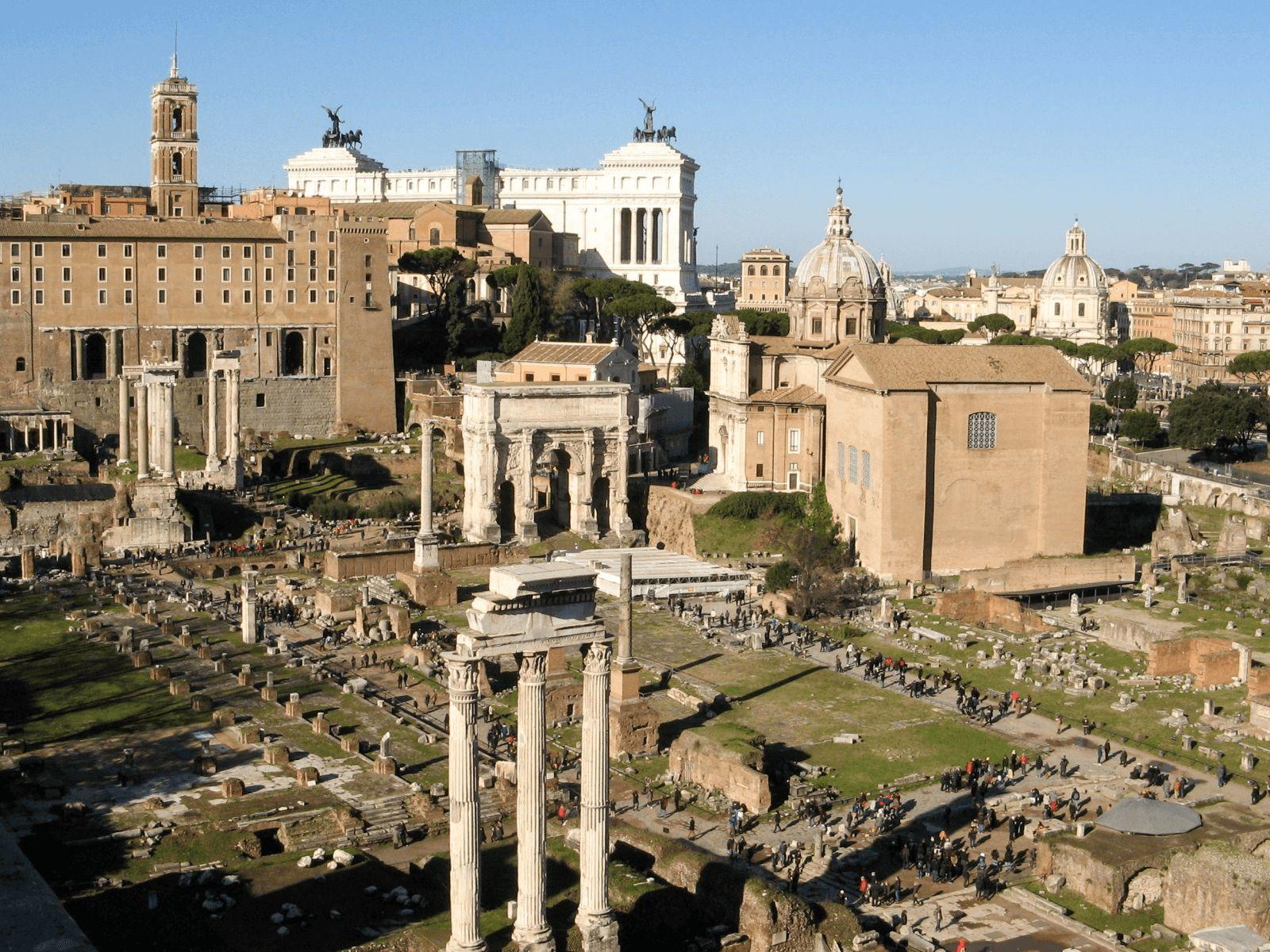 Španjolska i Rim: Rim: Palatin i forum