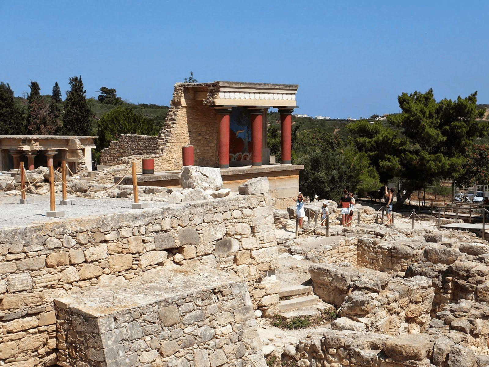 Kreta: Knossos palača