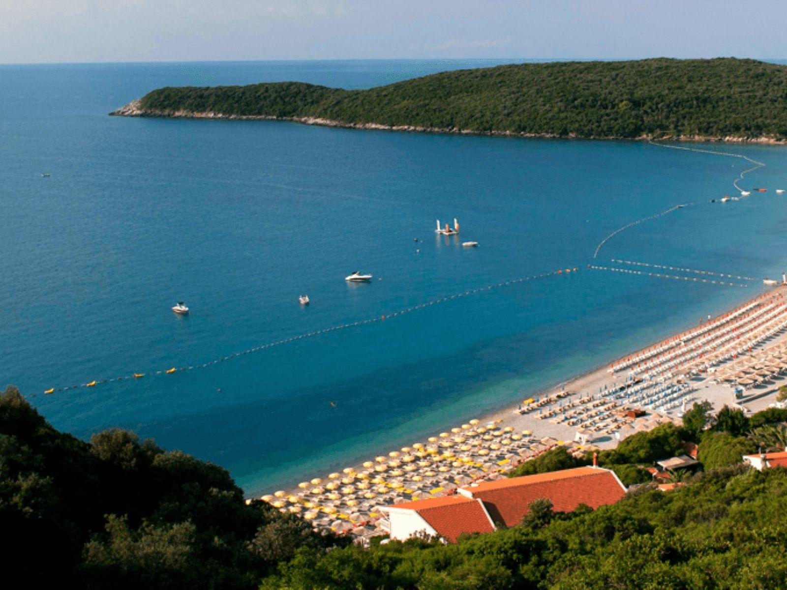 Budva i Crna Gora: Budva: pješčane plaže i plaža Jaz